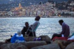 Réfugiés africains bloqués en Italie Images libres de droits
