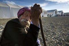 Réfugiés de Sirian bloqués dans Idomeni Images libres de droits
