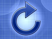 Régénérez l'illustration bleue de flèche Photos libres de droits