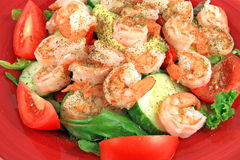 Régal de salade de crevette images stock