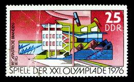 Régate d'aviron dans Brandebourg, Jeux Olympiques d'été 1976, Se de Montréal Images libres de droits