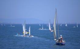 Régate de bateaux à voile, Burgas Photographie stock