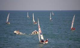 Régate de bateaux à voile, Burgas Photos stock