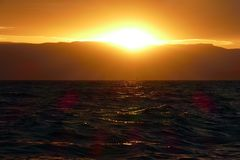 Régate de navigation au coucher du soleil Photographie stock libre de droits