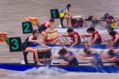 Régate 2014 de rivière de Singapour Photographie stock