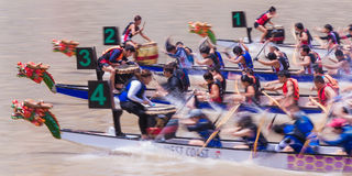 Régate 2014 de rivière de Singapour Photographie stock libre de droits