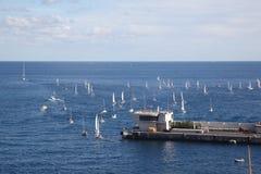 Régate de yacht au Monaco Photographie stock