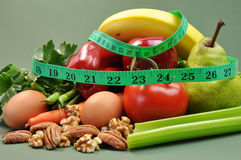 Régime de la nourriture saine de régime Image libre de droits