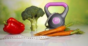 Régime de sport, calorie, bande de mesure image stock