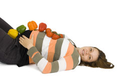 Régime sain dans la grossesse. Image libre de droits