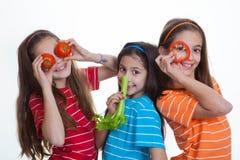 Régime sain de consommation d'enfants Photo libre de droits