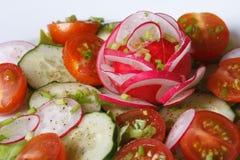 Régime végétal de salade d'été, macro horizontal Images stock