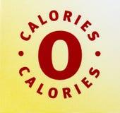 R?gime z?ro de label de boissons de nourriture de nutrition de calories photo libre de droits