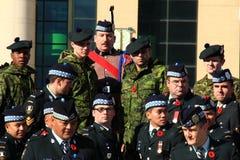 Régiment écossais 7 de Toronto Images libres de droits
