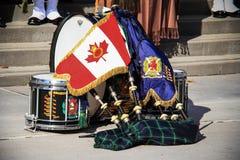 Régiment écossais 10 de Toronto Images stock