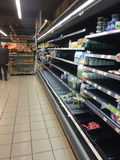 Régiments du supermarché russe Photos libres de droits