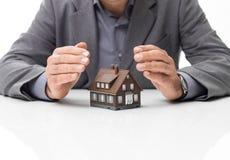 Régimes d'assurance à la maison photographie stock