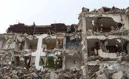 Région abandonnée de construction de bâtiments de diminution des effectifs Photographie stock libre de droits
