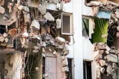 Région abandonnée de construction de bâtiments de diminution des effectifs Photo libre de droits