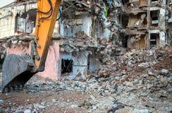 Région abandonnée de construction de bâtiments de diminution des effectifs Photo stock