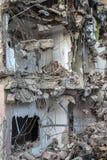 Région abandonnée de construction de bâtiments de diminution des effectifs Photographie stock