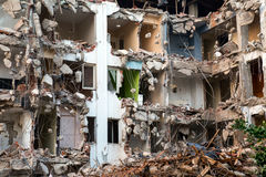 Région abandonnée de construction de bâtiments de diminution des effectifs Images libres de droits