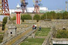 Région antique de fort et de port à Viana do Castelo Image stock