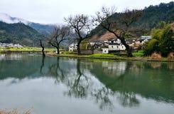 Région avec des rivières dans le rêve images libres de droits