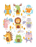 Région boisée animale Autumn Vector Images stock
