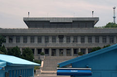 Région commune de sécurité, Panmunjon, République coréenne Images stock
