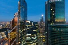 région d'affaires de Moscou-ville Photo libre de droits