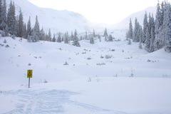 Région d'avalanche photos stock