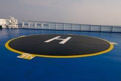 Région d'héliport sur le bateau Image stock