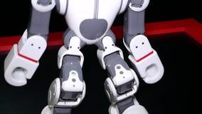 Région de Chelyabinsk, Chelyabinsk/Russie - 07 10 2019 : Le robot danse Clouse avec la casserole du fond à compléter banque de vidéos