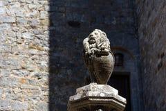 Région de chianti, Italie - 21 avril 2018 : Castello di Brolio, un château rural, palais et jardins, près de Sienne, région de la image stock
