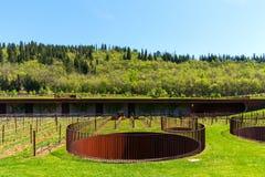 Région de chianti, Italie - 20 avril 2018 : L'établissement vinicole de Classico de chianti de nel d'Antinori photo stock