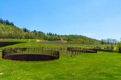 Région de chianti, Italie - 20 avril 2018 : L'établissement vinicole de Classico de chianti de nel d'Antinori image stock