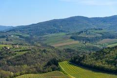 Région de chianti, Italie - 20 avril 2018 : Le château de Verrazzano en Greve dans le chianti, Italie image libre de droits