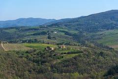 Région de chianti, Italie - 20 avril 2018 : Le château de Verrazzano en Greve dans le chianti, Italie photo libre de droits