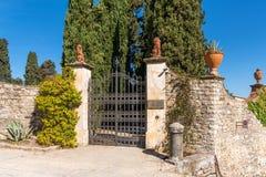Région de chianti, Italie - 20 avril 2018 : Le château de Verrazzano en Greve dans le chianti, au coeur de la région de Classico  image stock