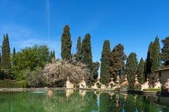 Région de chianti, Italie - 20 avril 2018 : Le château de Verrazzano en Greve dans le chianti, au coeur de la région de Classico  images stock