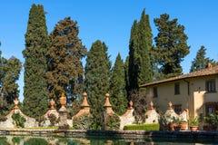 Région de chianti, Italie - 20 avril 2018 : Le château de Verrazzano en Greve dans le chianti, au coeur de la région de Classico  photo libre de droits