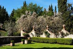 Région de chianti, Italie - 20 avril 2018 : Le château de Verrazzano en Greve dans le chianti, au coeur de la région de Classico  photos libres de droits