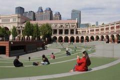 Région de cinq la grande avenues dans la ville du centre de Tianjin, Chine photographie stock