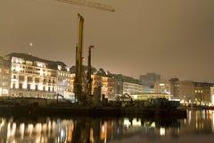 Région de construction la nuit Photos stock