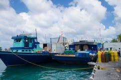 Région de docks au mâle Image libre de droits