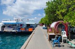 Région de docks au mâle Photos libres de droits