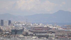 Région de Genoa Port et nouveaux bâtiments du ` s de centre d'affaires banque de vidéos