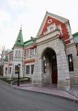 Région de Gomel, secteur de Zhlobin, la BANQUE ROUGE de VILLAGE, Belarus - 16 mars 2016 : Le manoir de Gatovsky est un monument Photographie stock libre de droits