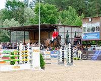 Russia, Leningrad region, Enkolovo village - JULY 7, 2019:INTERNATIONAL COMPETITIONS CSI ** - WORLD CUP, World Cup stage
